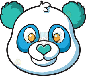 A Cute Blue And Green Panda