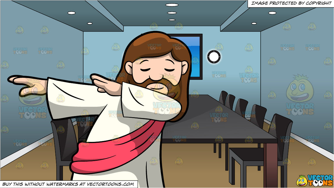 799a469eb1c8d9 A Dabbing Jesus Christ and Inside A Conference Room Background ...