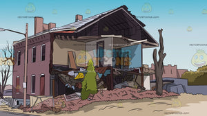 A Demolished House Background