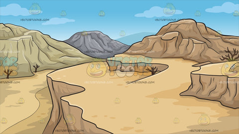 A Desert Canyon Background
