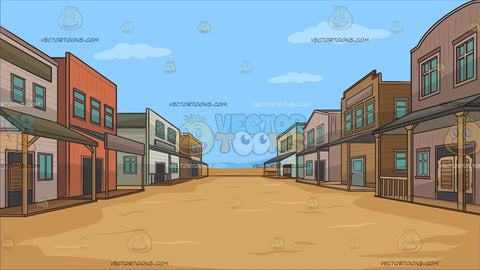 A Deserted Wild West Town Background