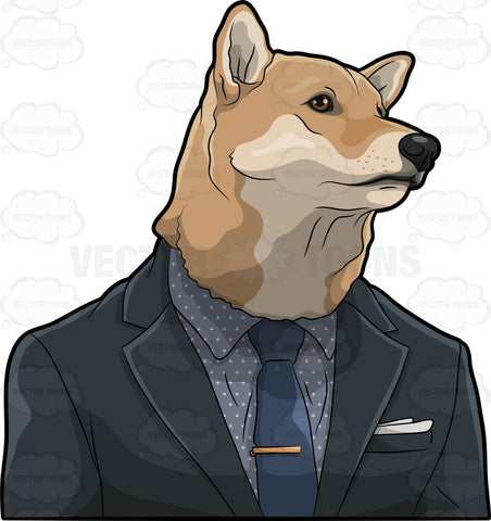 A Dog Dressed In A Suit