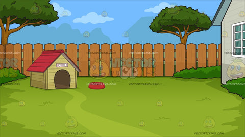 A Dog House In The Backyard Background