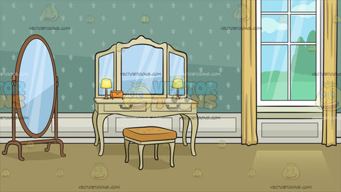 A Dressing Table In A Grand Bedroom Background
