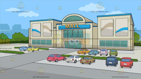 A Facade Of A Small Mall Background