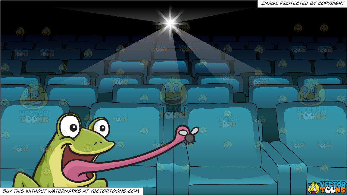 A Frog Catching A Fly and Inside A Movie Projection Theater