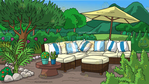 A Garden Patio Background