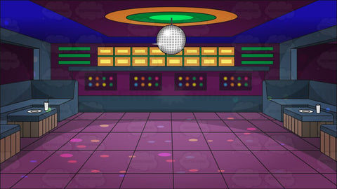 A Groovy Looking Nightclub Dance Floor Background