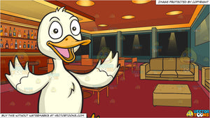 A Happy Duck and Inside A Posh Bar Background
