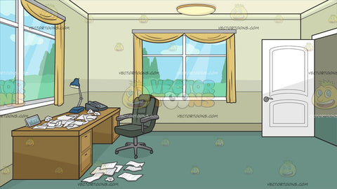 A Home Office Full Of Crumpled Papers Background