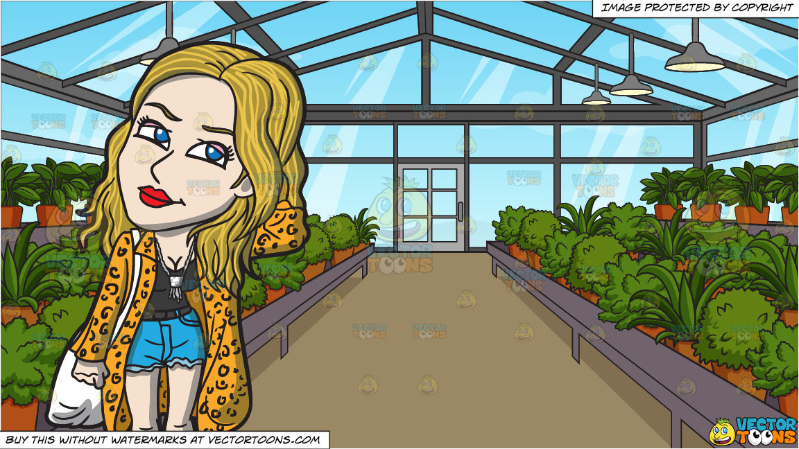 Anal Girl in Greenhouse