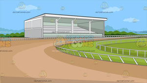 A Horse Racing Track Background