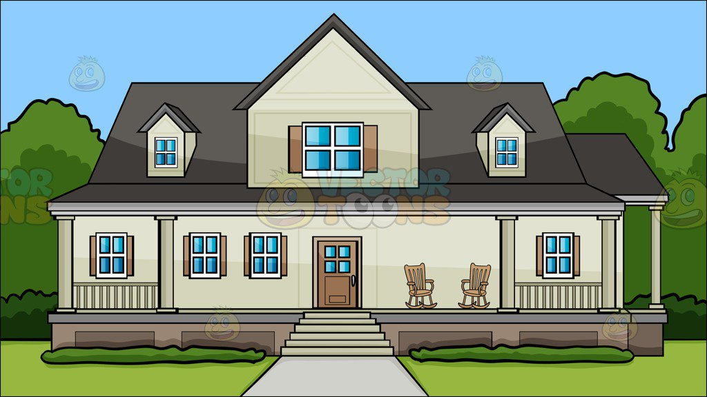 A House With Big Front Porch Background