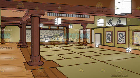 A Japanese Dojo Background