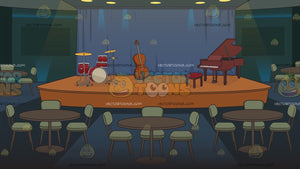 A Jazz Club Stage Background