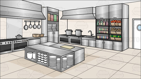 A Kitchen Restaurant Background