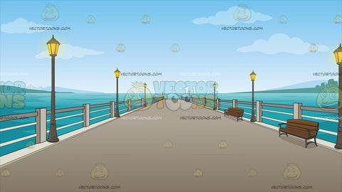 A Long Pier Background
