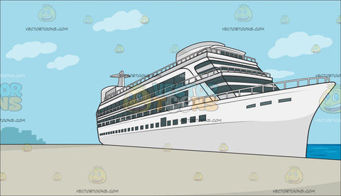 A Luxury Cruise Ship Liner Background