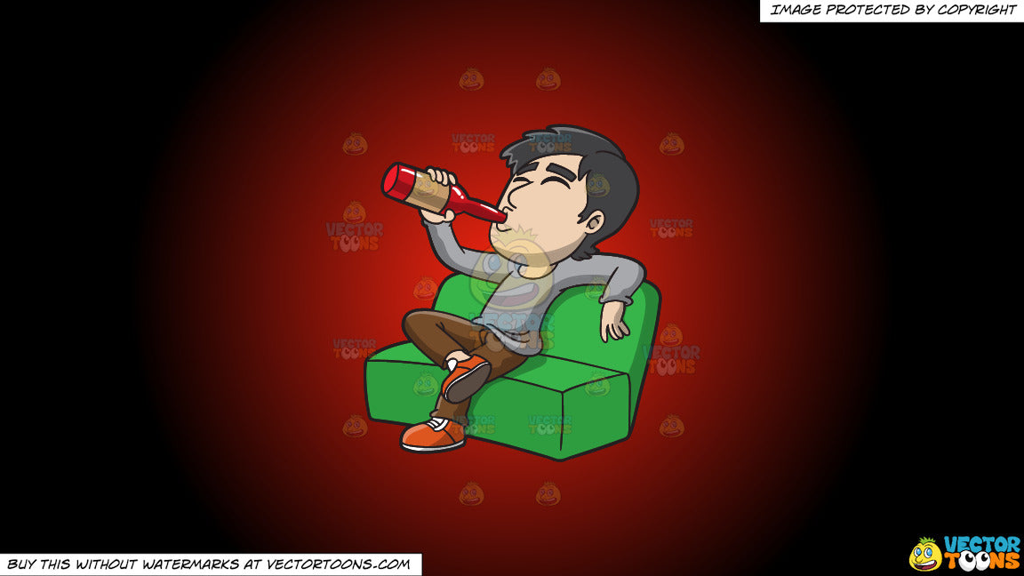 Surprising Clipart A Man Getting Drunk On The Couch On A Red And Black Gradient Background Machost Co Dining Chair Design Ideas Machostcouk