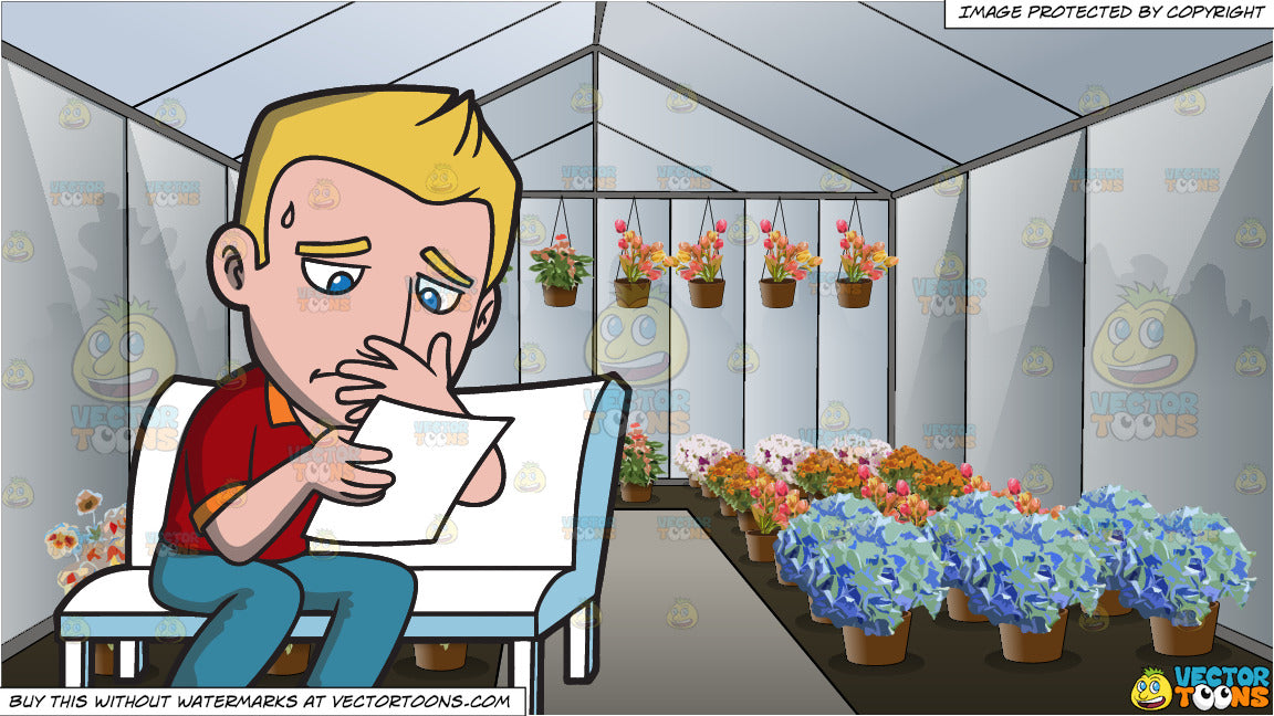 a man reading a sad letter and inside a flower garden green room clipart cartoons by vectortoons a man reading a sad letter and inside a flower garden green room clipart cartoons by vectortoons