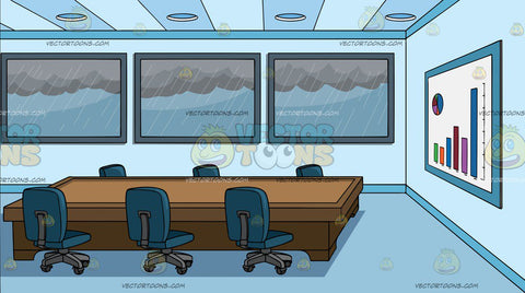 A Meeting Room Overlooking A Stormy Day