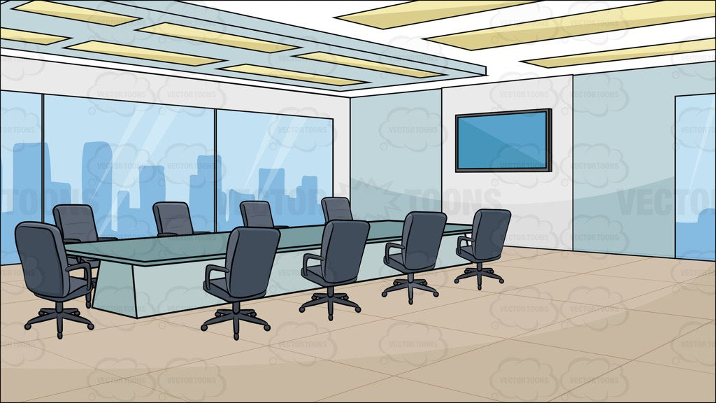 A Modern Board Room Background Clipart Cartoons By