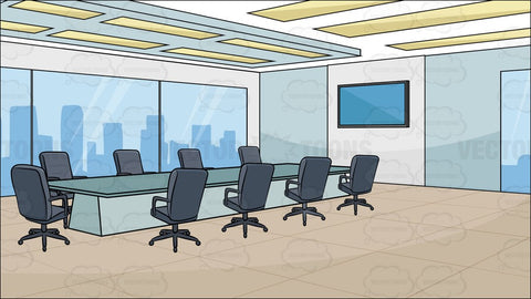 A Modern Board Room Background