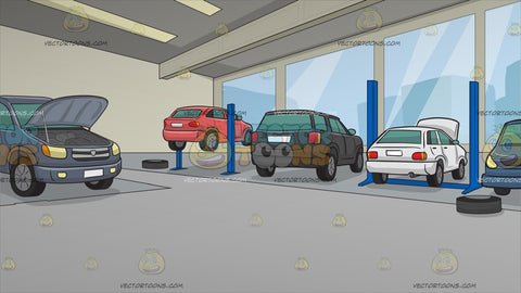A Modern Car Service Centre Background