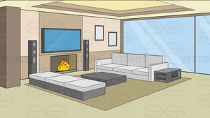 A Modern Comfy Living Room Background