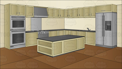 A Modern Kitchen Background