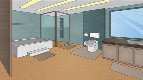 A Modern Master Bathroom Background