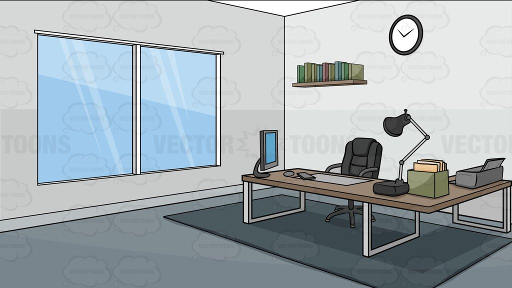 A Modern Office Background Clipart Cartoons By Vectortoons