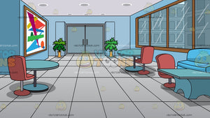 A Modern Office Lobby Background