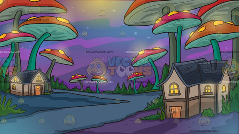 A Mushroom Forest Background