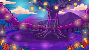 A Mystical Enchanted Forest Background