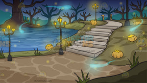 A Mystical Lakeside Path Background