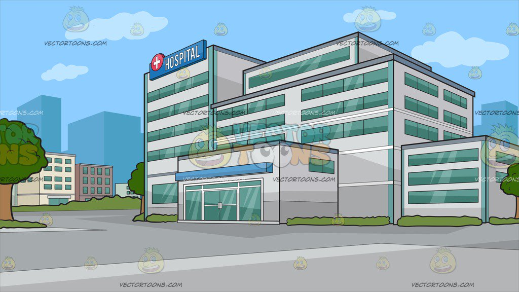 A New Hospital Building Background