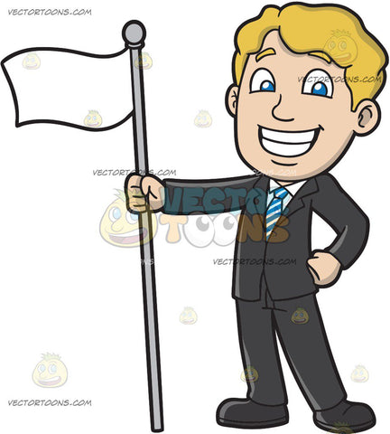A Proud Man Holding A White Flag