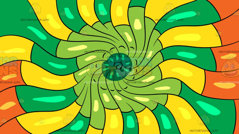 A Psychedelic Warm Swirls Background