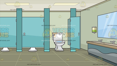 A Public Bathroom With Cubicles Background