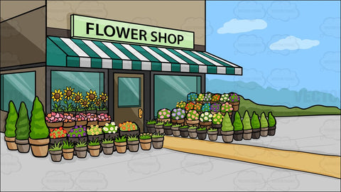 A Quaint Flower Shop Background