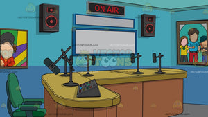 A Radio Station Studio Room Background