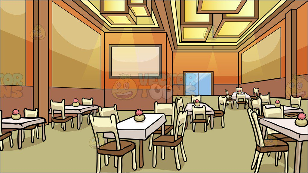 A Restaurant Dining Room Background - Clipart Cartoons By ...