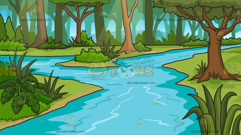A River In A Jungle Background