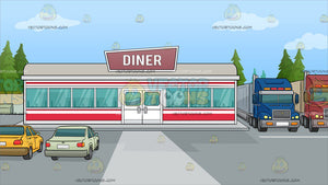 A Roadside Diner Background