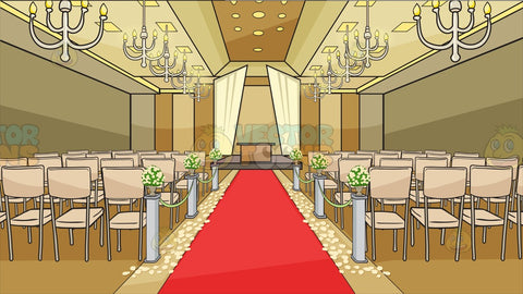 A Romantic Wedding Aisle Background