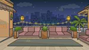 A Rooftop Terrace Background