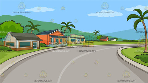 A Row Of Houses In The Tropics Background