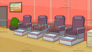 A Row Of Pedicure Chairs Background