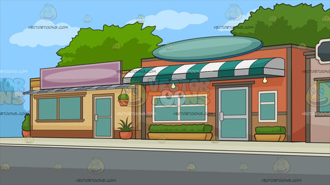 A Row Of Small Stores Background